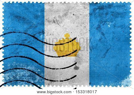 Flag Of Ulyanovsk, Russia, Old Postage Stamp