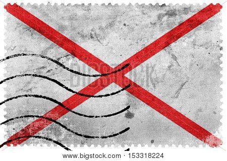 Flag Of Valdivia, Chile, Old Postage Stamp