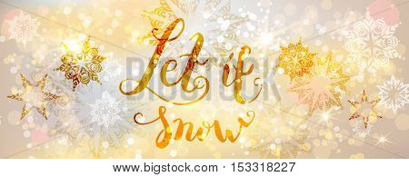 Snow gold banner