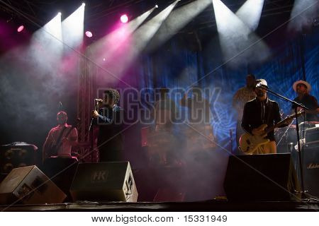 Brazilian band performing live in Skopje, Macedonia