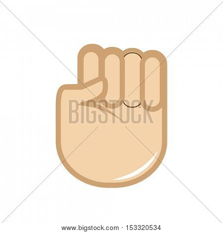 Vector hand gesture icon. Sign language. Isolated color illustration on white