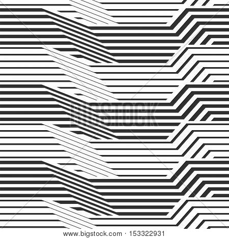 The geometric pattern by stripes . Seamless vector background