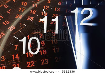 Calendar And Clock Face