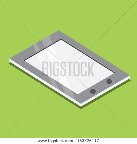Tablet Pc Isometric Icon. Vector Illustration.