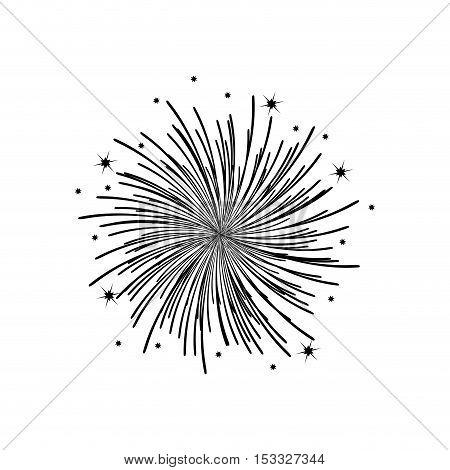 fireworks burst effect decoration icon over white background. vector illustration