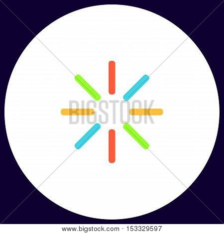 loading Simple vector button. Illustration symbol. Color flat icon
