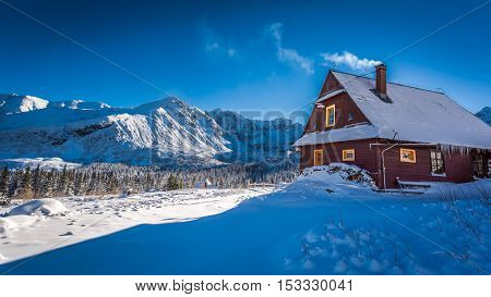 Warm Accommodation In Cold Winter Mountains, Tatras, Poland