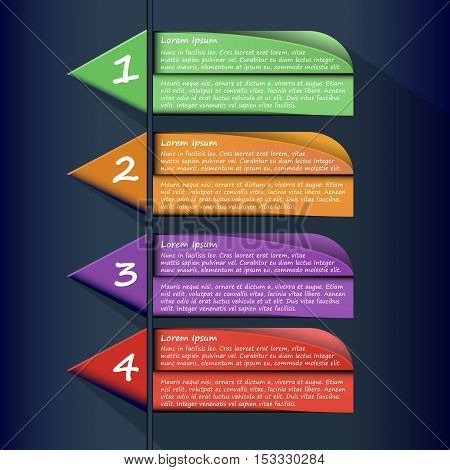 Infographic Flat Template Background, Vector, Illustration, Theme