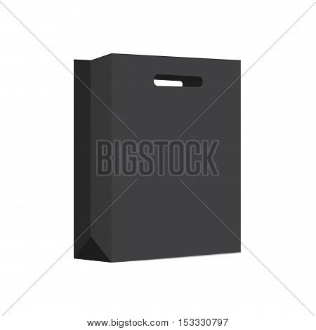 Empty Shopping Bag for advertising and branding. MockUp Package. Vector Illustration.