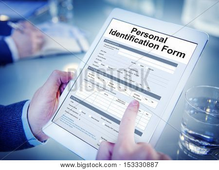 Personal Identification ID Form Concept