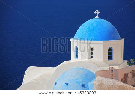 Church on Santorini island, Greece