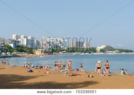 Gelendzhik Krasnodar Krai Russia - August 23 2016. City Beach.