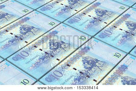 Libyan dinar bills stacked background. 3D illustration.