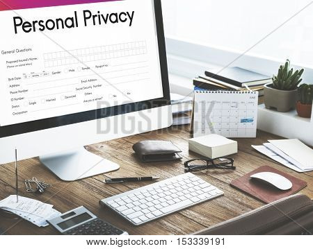 Personal Privacy Protection Form Concept