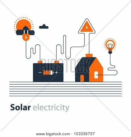Flat design vector illustration. Electricity graphic elements