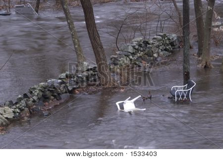 View Of Flood In Backyard