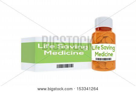 Life Saving Medicine Concept