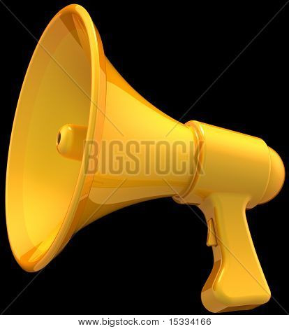 Icono de megáfono amarillo