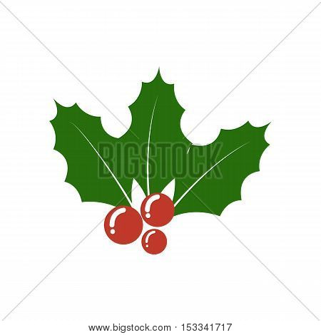 Christmas Holly berry icon. Christmas symbol. berry icon.