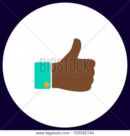 Like Simple vector button. Illustration symbol. Color flat icon