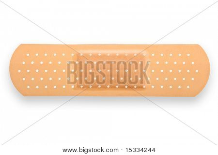 A medical equipment - adhesive plaster isolated on white background
