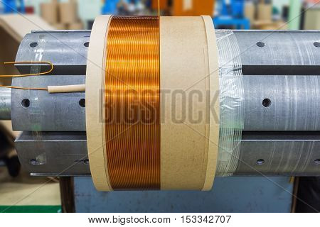 Transformer Coil Under Production