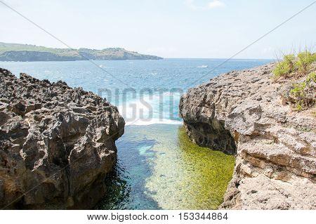 Angel Billabong beach at Nusa Penida Island Bali Indonesia. near Pasih Uug