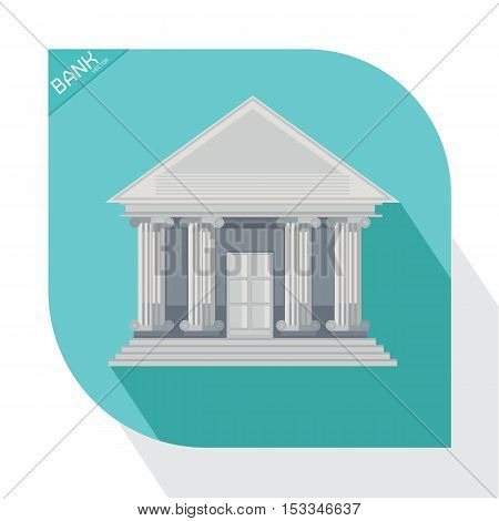vector Money Business bank on blue background
