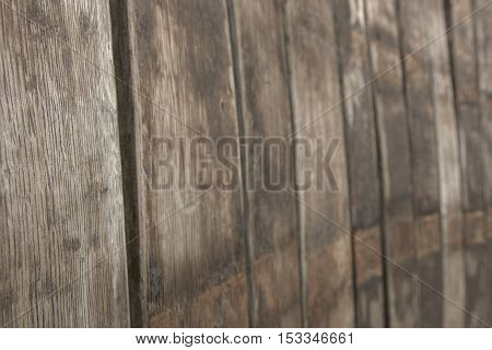 Single wooden planks from big seat backrest