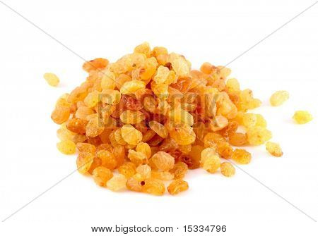 raisins (sultana) isolated on white