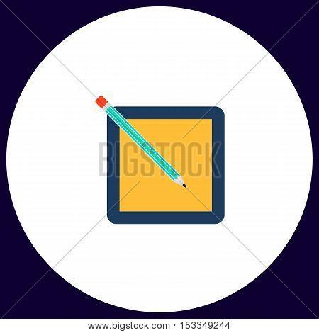 subscription Simple vector button. Illustration symbol. Color flat icon
