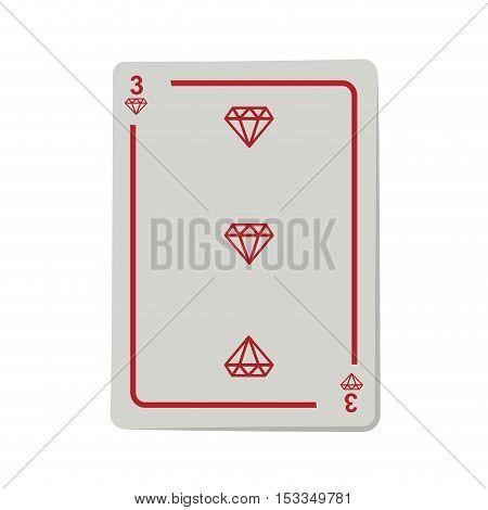 casino diamond cards poker icon over white background.  gambling games design. vector illustration