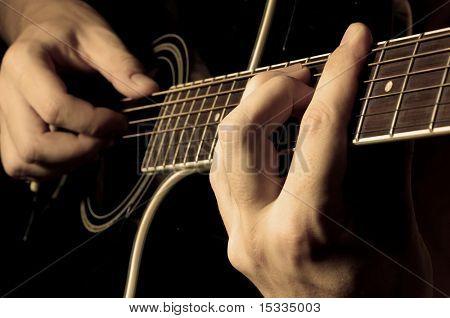 Musiker Gitarre spielen