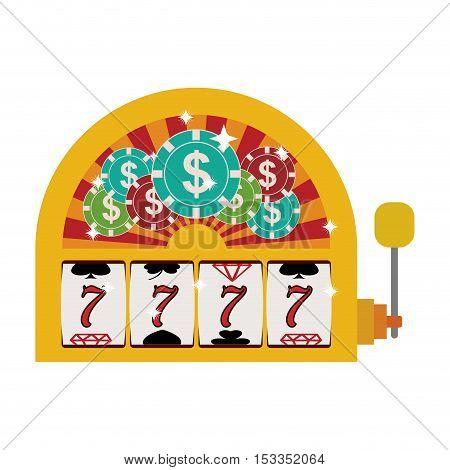 jackpot slot machine over white background. casino gambling games design. vector illustration
