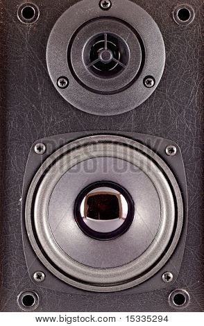 Two close-up loud speakers