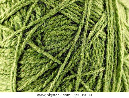 close up of woolen knittin balls