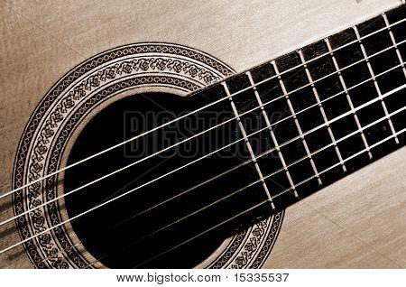 close-up guitar fragment
