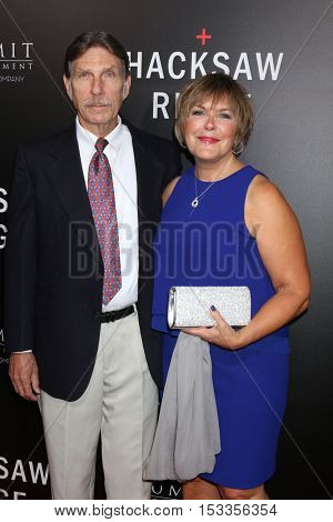LOS ANGELES - OCT 24:  Desmond Doss Jr., Elaine Roorda at the