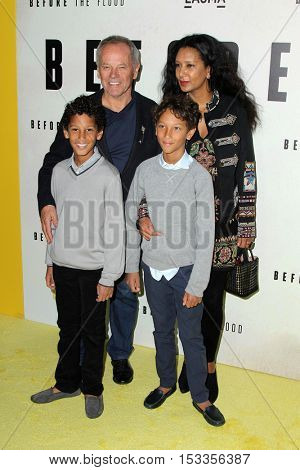 LOS ANGELES - OCT 24:  Alexander Wolfgang, Wolfgang Puck, Oliver Wolfgang, Gelila Assefa at the Screening of