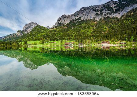 Calm Dawn At Hintersee Lake, Alps, Germany