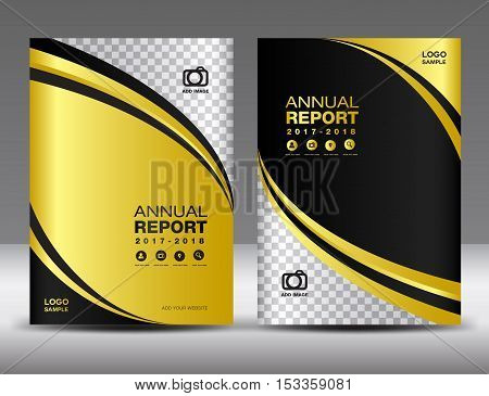 Gold Cover template, cover annual report, cover design business brochure flyer, magazine covers, book cover ,presentation