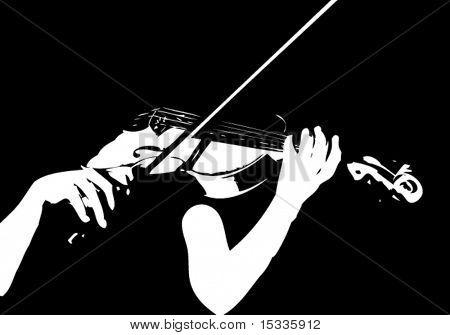 Violín juego músico