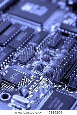 Close-up de Mainboard do computador