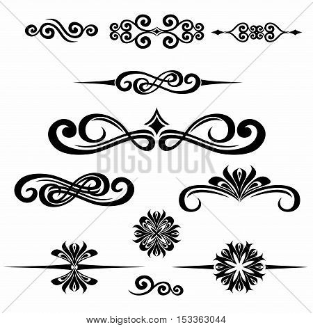 Collection of hand drawn vintage frame for text decoration in vector. The design of the banners of the site. Black