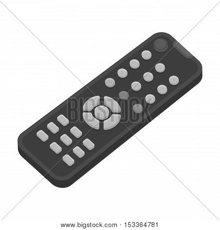 Remote control icon in monochrome style isolated on white background. Films and cinema symbol vector illustration.