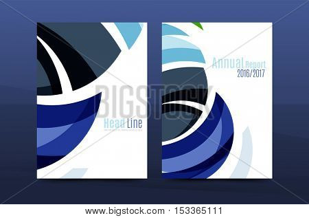 Abstract business annual report brochure cover, wave pattern. illustration