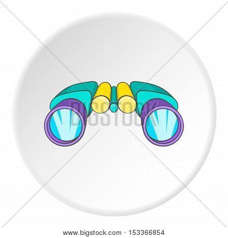 Binocular icon. Cartoon illustration of binocular vector icon for web