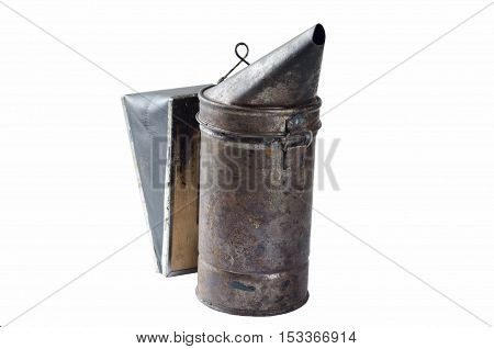 old ice bee smoker isolated farm tool