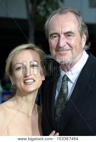 Iya Labunka and Wes Craven at the Los Angeles premiere of 'Red Eye' held at the Mann Bruin in Westwood, USA on August 4, 2005.