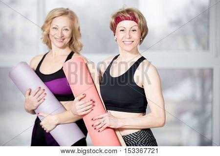Portrait Of Two Senior Athletic Women
